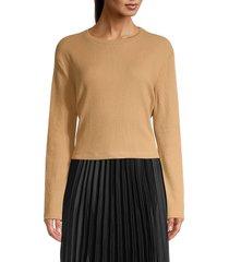 rd style women's crewneck long sleeve knit top - heather grey - size l