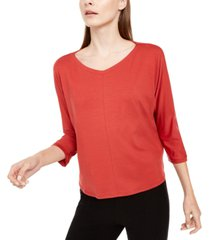 eileen fisher v-neck 3/4-sleeve top