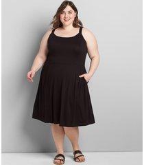 lane bryant women's ruffle-strap fit & flare dress 34/36 black