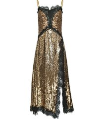 pinko antique sequin dress - gold