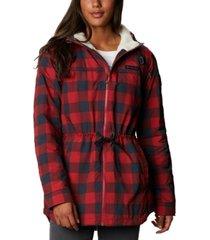 columbia chatfield hill plaid fleece-lined utility jacket