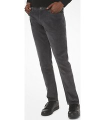 mk pantaloni slim-fit in velluto a coste stretch - grafite (grigio) - michael kors