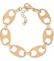 rachel rachel roy gold-tone chunky oval link bracelet