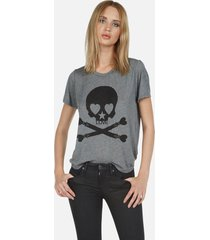 capri love skull - xl heather grey