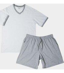 pijama gola v em algodão mash masculino
