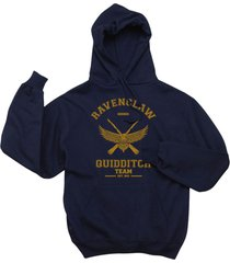 seeker old ravenclaw quidditch team captain yellow ink unisex hoodie navy