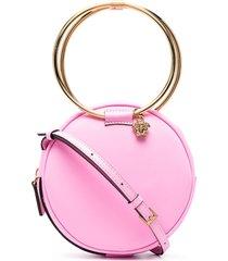 versace medusa-head charm crossbody bag - pink