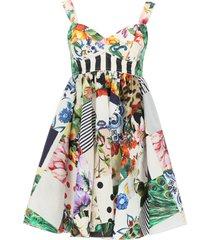dolce & gabbana patchwork poplin dress