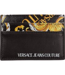 versace jeans couture baroque credit card holder