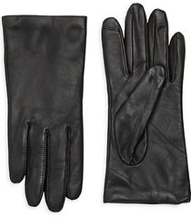 leather cashmere lined tech gloves