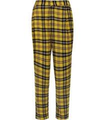 pantalón a cuadros grandes color amarillo, talla 10