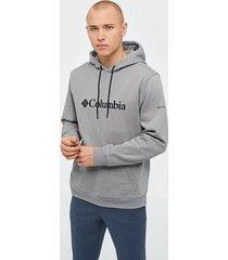 columbia csc basic logo ii hoodie tröjor grey
