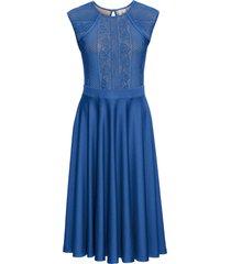 abito in maglina con pizzo (blu) - bodyflirt boutique