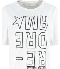 golden goose aira cotton crew-neck t-shirt