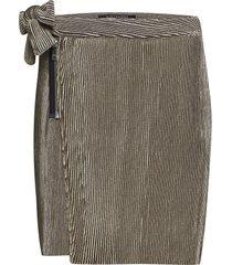 velvet corduroy mini skirt with side tie detail kort kjol beige scotch & soda