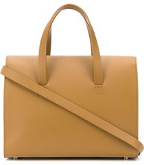 aesther ekme mini barrel tote bag - brown