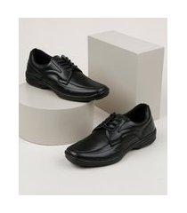 sapato social masculino ollie confort bico quadrado preto