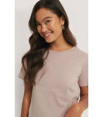 na-kd basic bas-t-shirt - pink