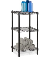 honey can do 3-tier wire shelving tower, black