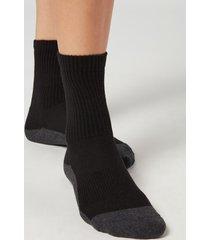 calzedonia unisex sport ankle socks man black size 38-40