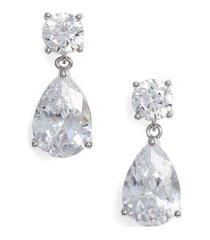 women's nordstrom cubic zirconia teardrop earrings