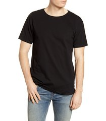 men's scotch & soda regular fit crewneck t-shirt, size xx-large - black