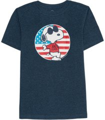 hybrid men's snoopy joe cool american flag t-shirt