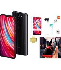 celular xiaomi redmi note 8 pro 64gb 6gb ram grey negro + vidrio + audifonos + estuche 360