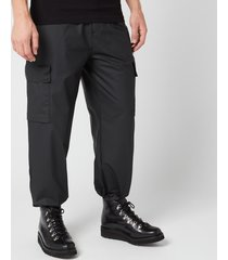 rains men's ultralight cargo pants - black - m/l
