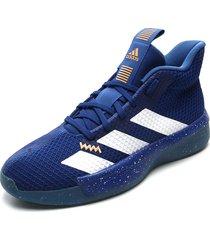 tenis basketball azul royal-naranja-blanco adidas performance pro next 2019