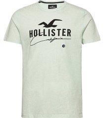hco. guys graphics t-shirts short-sleeved grön hollister