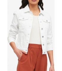 chaqueta denim blanco banana republic