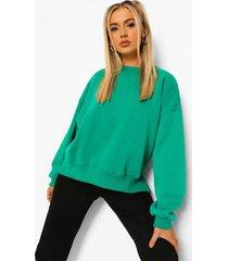oversized official sweater met split, green