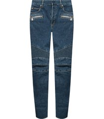 jeans with ribbed inserts