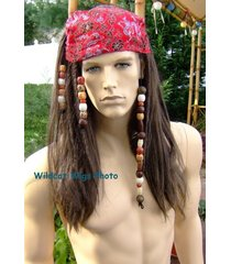 quality pirate wig .. top quality, not junk! has beads and dreads!