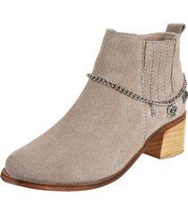 botineta texana gamuza gris rosevelt shoes varsa