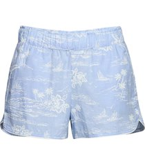 print shorts in poplin shorts blå gap
