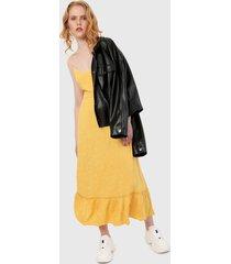 vestido amarillo esprit
