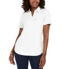 karen scott cotton polo shirt, created for macy's