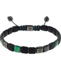 emerald onyx lock bracelet