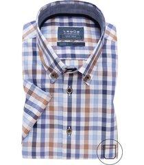 overhemd korte mouw ledub strijkvrij geruit