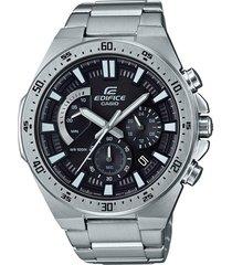 reloj casio efr-563d-1a para caballero plateado/ negro