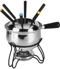 aparelho de fondue de aço inox 10 peças mike