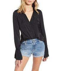 women's paige abriana shirt, size x-large - black