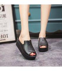 zapatillas para mujer verano 2019 sandalias superiores de pvc cuña