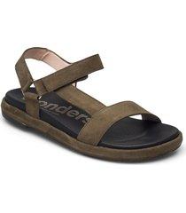 b-7410-f ante shoes summer shoes flat sandals grön wonders