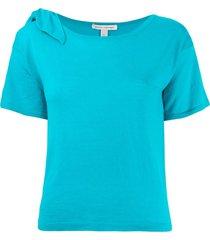 autumn cashmere shortsleeved sweater - blue