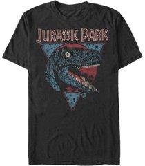 fifth sun jurassic park men's retro raptor short sleeve t-shirt