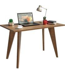 mesa madesa retangular para escritã³rio com tampo de madeira 5319 marrom - marrom - dafiti