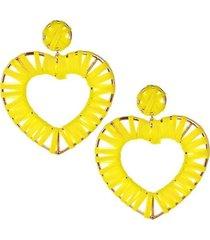 aretes corazones tejidos  ar-11947